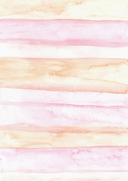 Rayures Rose Abstrait Aquarelle Texture Fond Vecteur Premium