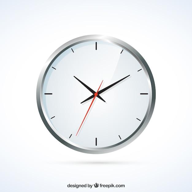 Réaliste Horloge Murale Vecteur gratuit