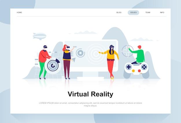 Réalité Augmentée Virtuelle Vecteur Premium