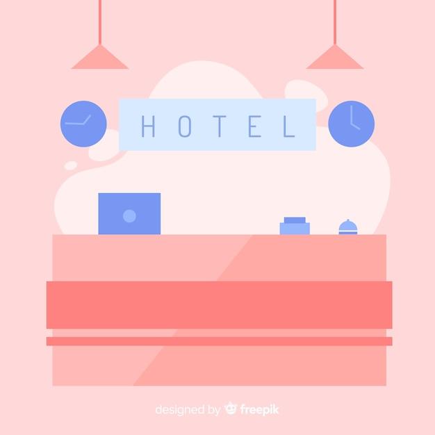 Réception de l'hotel Vecteur gratuit