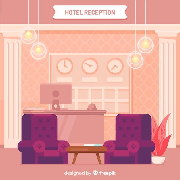 Réception moderne avec un design plat Vecteur gratuit