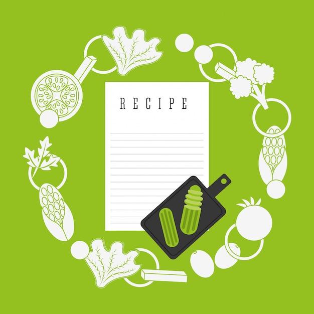 Recette de cuisine Vecteur gratuit