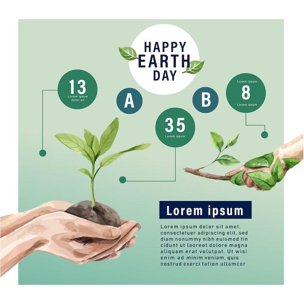 Réchauffement de la planète et pollution, sauver le monde, statistiques infographiques présentes Vecteur gratuit