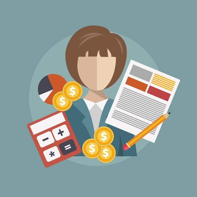 Recherche et analyse d'affaires Vecteur gratuit