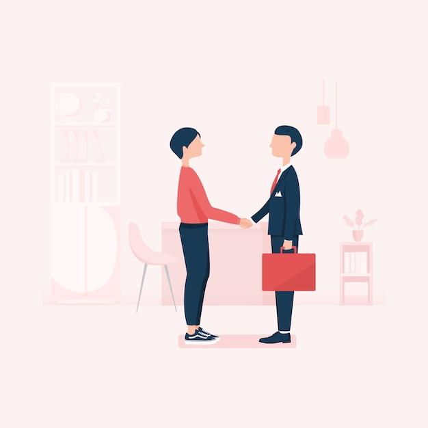 Recherche d'emploi ressources humaines recrutement carrière Vecteur Premium