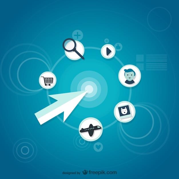 Recherche d'informations Vecteur gratuit