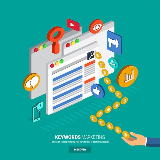 Rechercher une bannière publicitaire Vecteur Premium