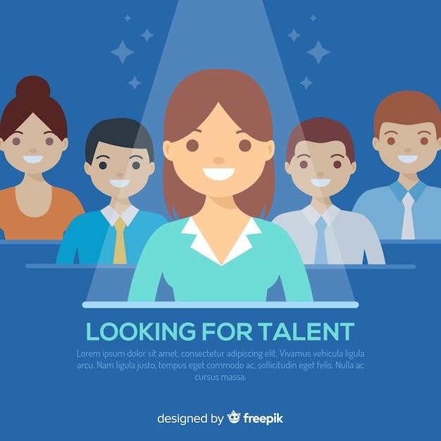 Rechercher un modèle de fond de talent Vecteur gratuit