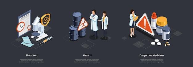 Recherches Scientifiques Et Concept De Soins De Santé. Vecteur Premium