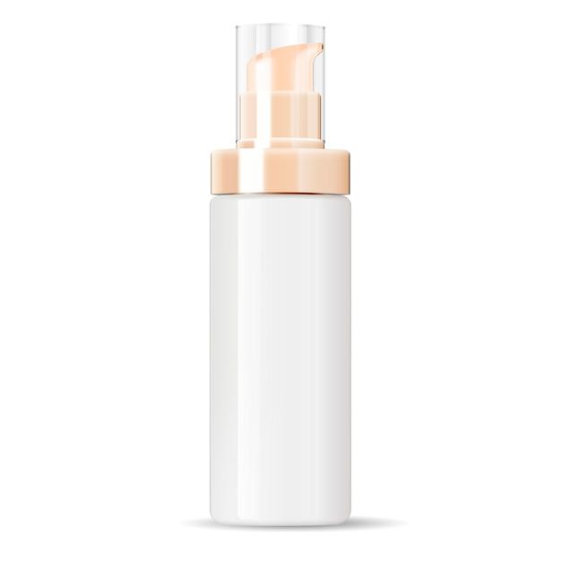 Récipient de bouteille de pompe de distributeur de crème cosmétique Vecteur Premium