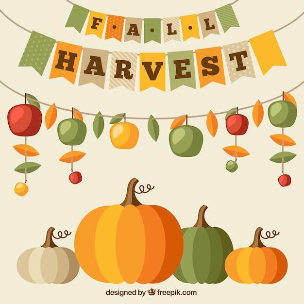 La récolte d'automne Vecteur gratuit