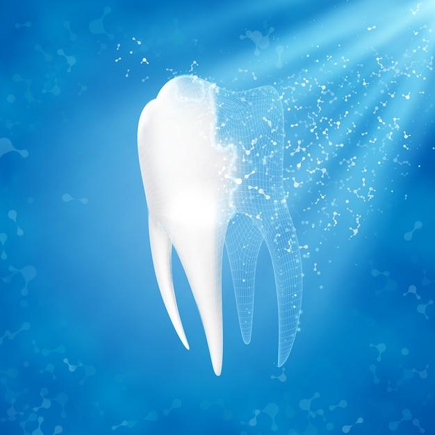 Reconstruction de la dent. Vecteur Premium