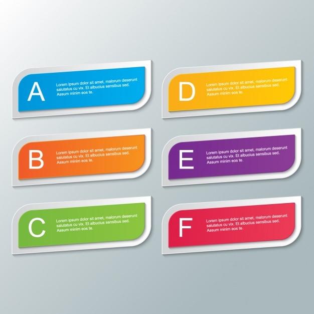 rectangles de couleur avec le texte Vecteur gratuit