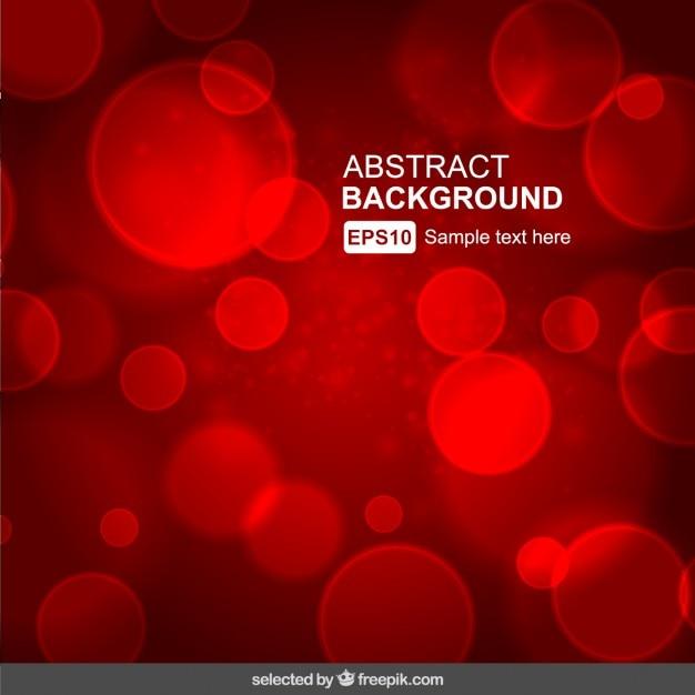Red abstract background floue Vecteur gratuit