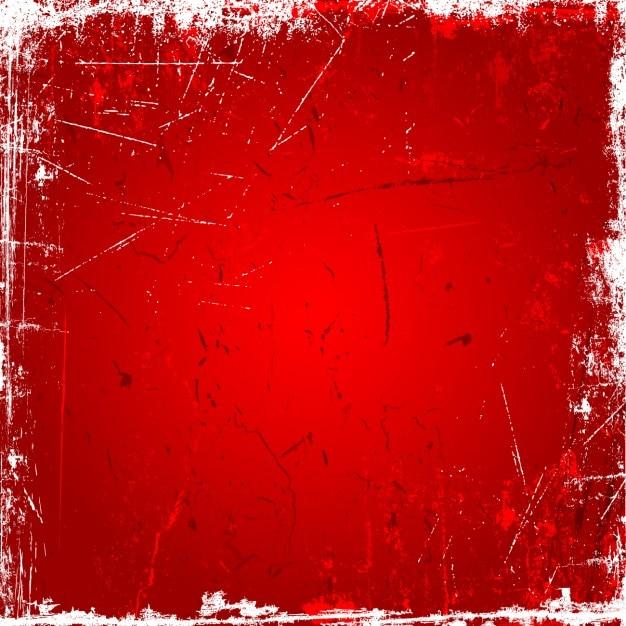 Red grunge background Vecteur gratuit