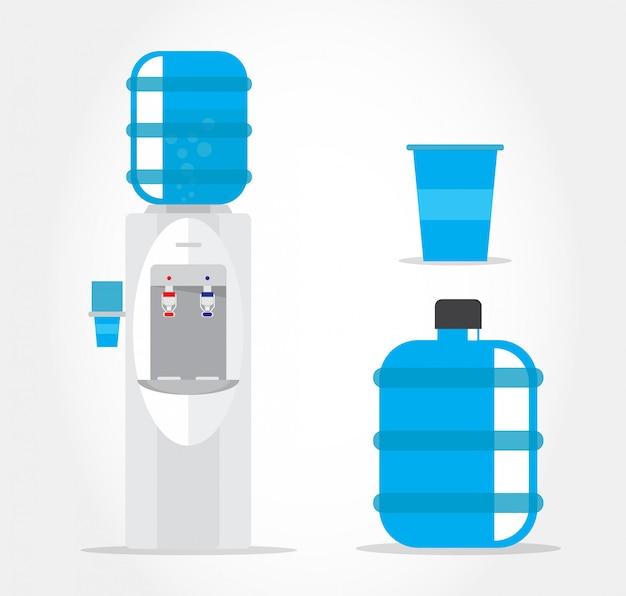 Refroidisseur d'eau. Vecteur Premium