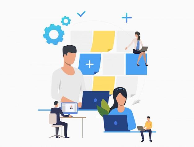 Regarder Le Profil Des Gens D'affaires Vecteur gratuit