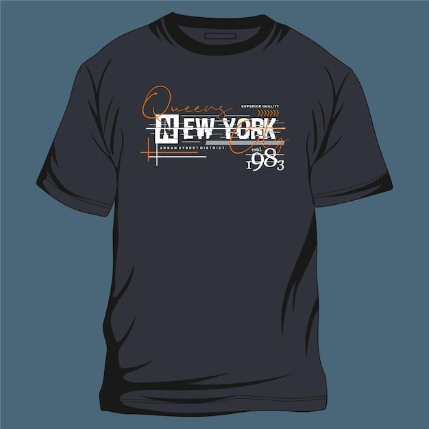 Reines New York City Typographie Graphique Illustration De Conception Cool Pour T-shirt Imprimé Vecteur Premium
