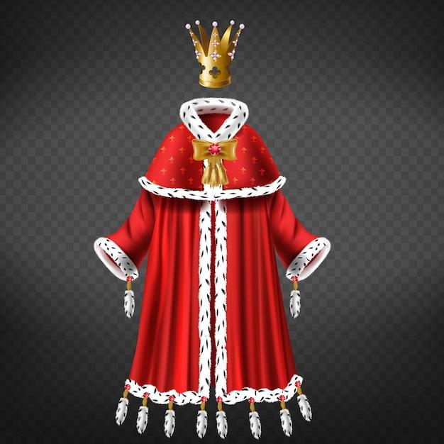 Reines, Robe De Princesse Royale Avec Cape, Fourrure D'hermine à Garniture De Manteau, Glands Décorés Vecteur gratuit