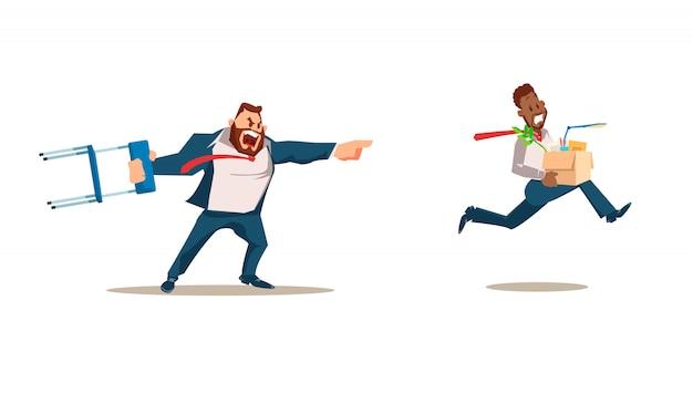 Rejeté, perte d'emploi. illustration vectorielle Vecteur Premium