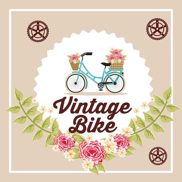 Réparation de vélos et magasin Vecteur Premium