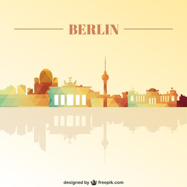 Repères berlin skyline Vecteur gratuit