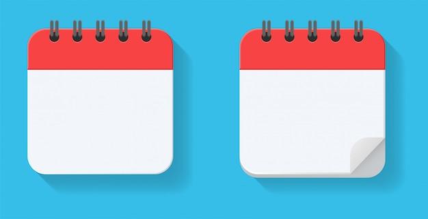 Réplique vide du calendrier. pour les rendez-vous et les dates importantes de l'année. Vecteur Premium