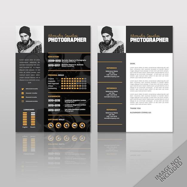 Reprendre Le Photographe Noir Vecteur Premium