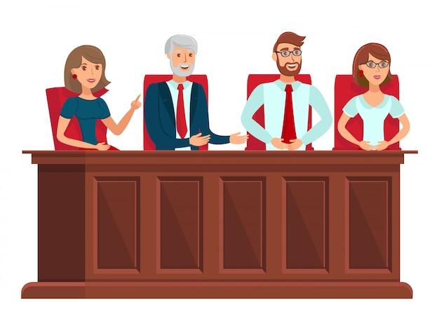 Représentants du jury Vecteur Premium