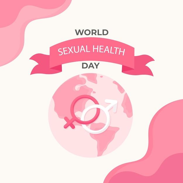 Représentation De La Journée Mondiale De La Santé Sexuelle Design Plat Vecteur gratuit