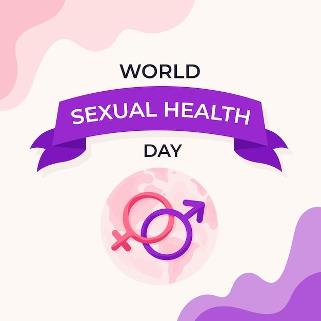 Représentation De La Journée Mondiale De La Santé Sexuelle Vecteur gratuit