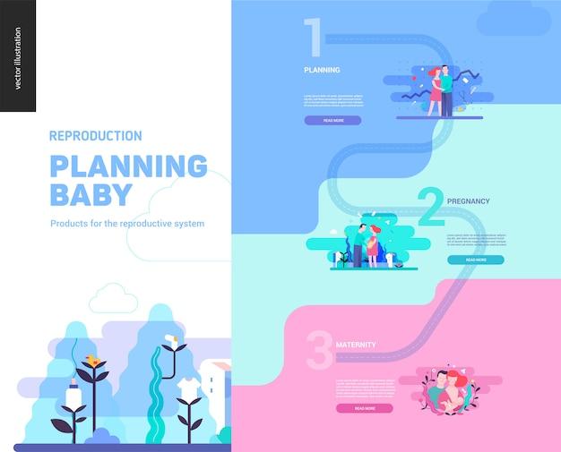 Reproduction - modèle infographique Vecteur Premium