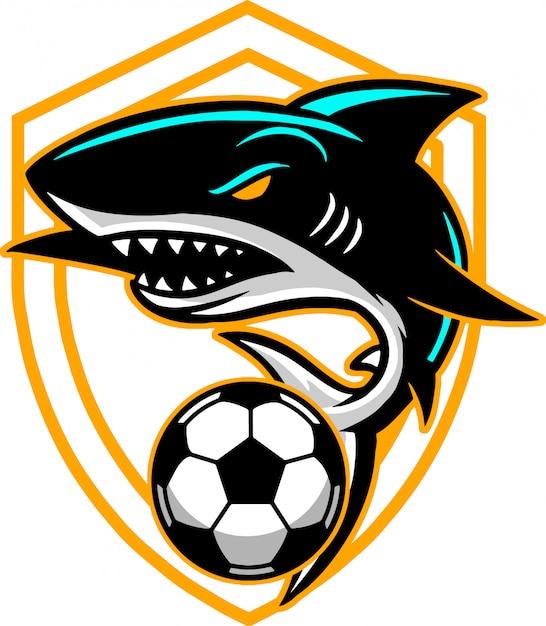 Requin ball Vecteur Premium