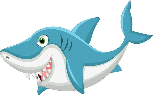 Requin De Dessin Animé Vecteur Premium