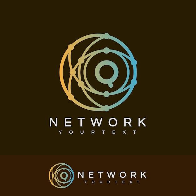 Réseau Initiale Lettre Q Logo Design Vecteur Premium