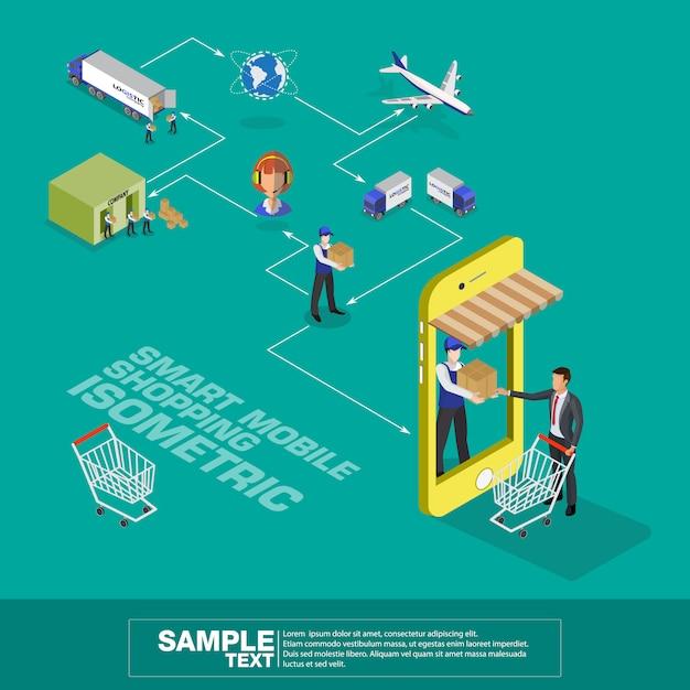 Réseau logistique mondial Vecteur Premium