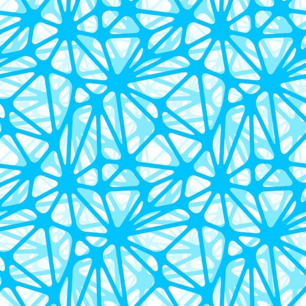 Réseau de neurones bleu, papier peint modèle sans couture Vecteur Premium
