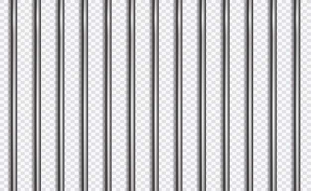 Réseau De La Prison Ou Des Barres Dans Le Style 3d Vecteur Premium