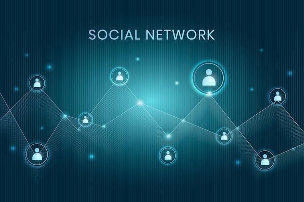 Réseau social décentralisé Vecteur gratuit