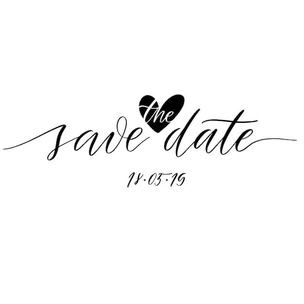 Réserve cette date Vecteur Premium