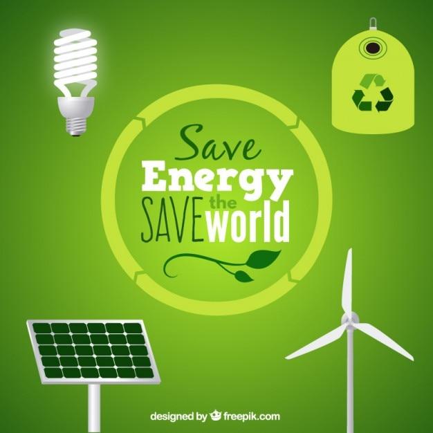 Les ressources d'énergie propre Vecteur gratuit