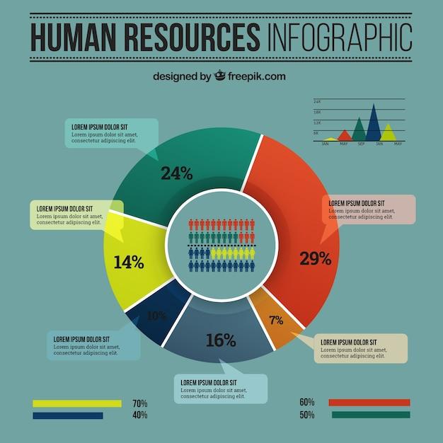 Ressources humaines infographie Vecteur gratuit
