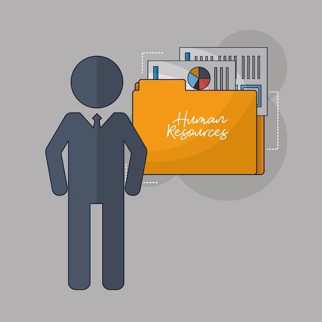 Ressources humaines liées Vecteur Premium