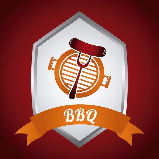 Restaurant de barbecue Vecteur Premium