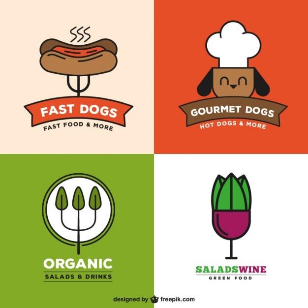Restaurant Logo Collection Vecteur gratuit