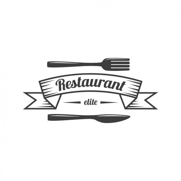 Restaurant logo modèle Vecteur gratuit
