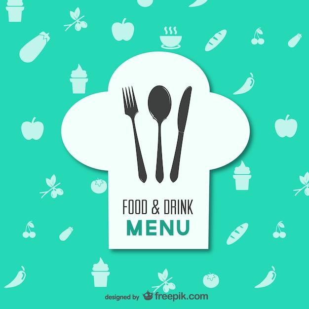Restaurant menu alimentaire vecteur Vecteur gratuit