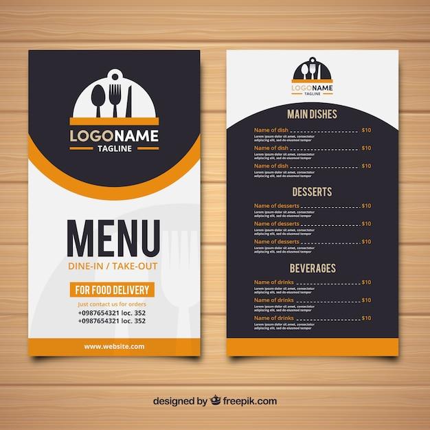 Restaurant Menu Rétro Vecteur gratuit