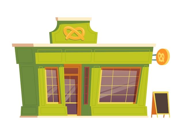 Restaurant De Restauration Rapide Ou Dessin Animé De Boulangerie Vecteur gratuit