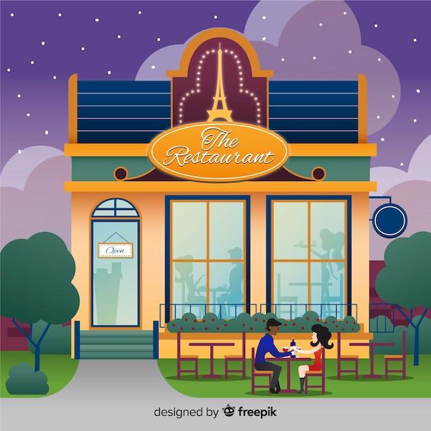 Restaurant Vecteur gratuit
